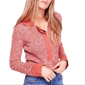 NWT Free People Making Memories Henley Sweater